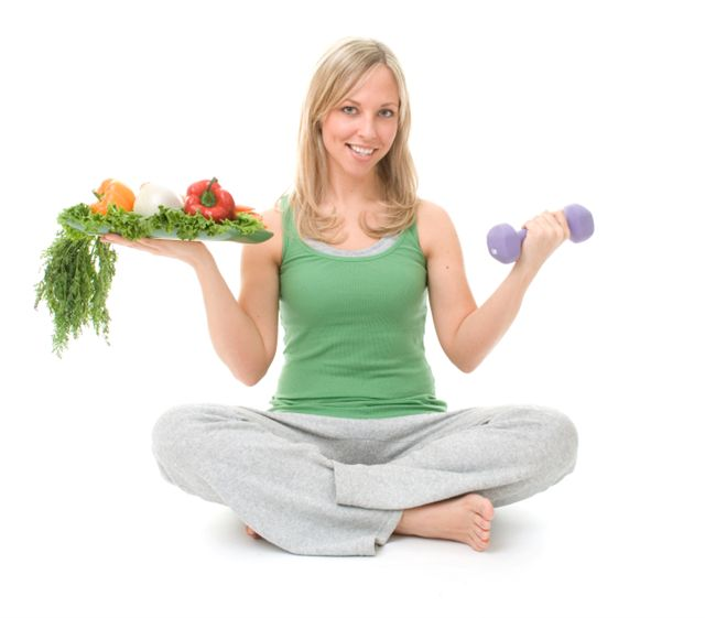 Healthy eating and exercising